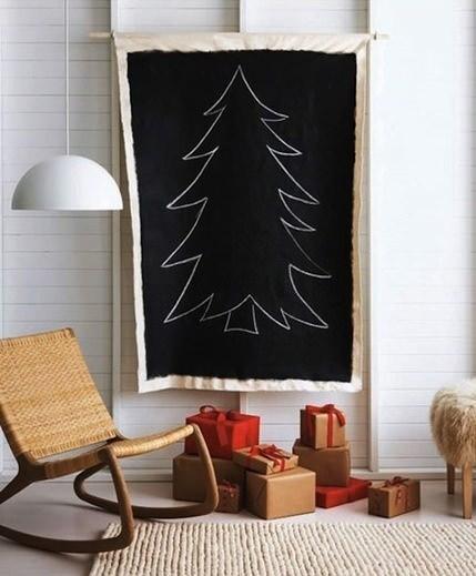 13 alternatieve kerstbomen 13x een mooi alternatief voor een kerstboom - Hang een doek ...