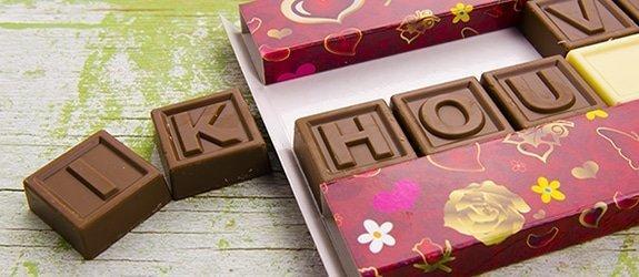 Chocotelegram. Zoet en hemels cadeau voor je lief!