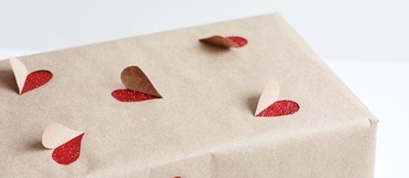 Hartjes cadeauverpakking