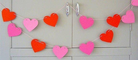 Toon je liefde met deze hartjes slinger.