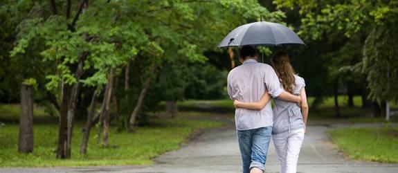 Romantiek in de regen