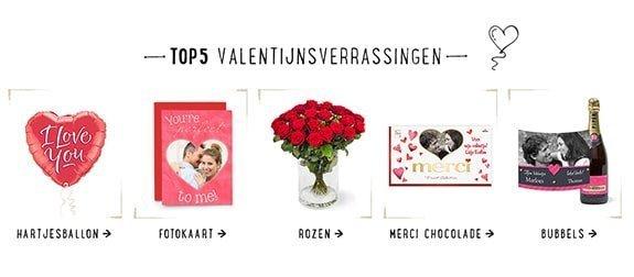 Valentijnsverrassingen die ook echte op Valentijnsdag worden bezorgt